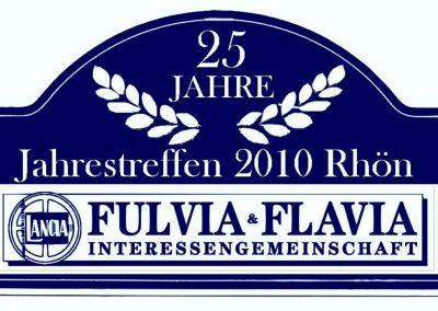 Rallyeschild für die Teilnehmer des Jahrestreffen 2010