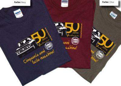 """T-Shirt auf Bestellung zu """"50 Jahre Fulvia"""" in 2013"""