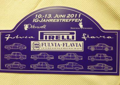 Rallyeschild für Teilnehmer des Jahrestreffen 2011