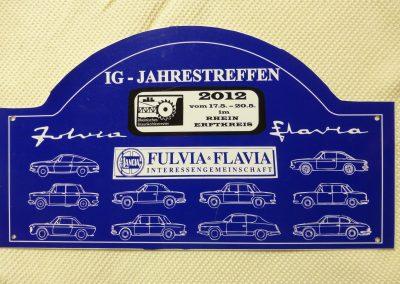 Rallyeschild für Teilnehmer des Jahrestreffen 2012