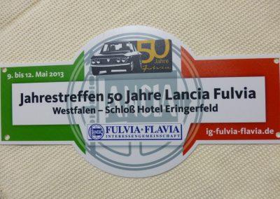 Rallyeschild für Teilnehmer des Jahrestreffen 2013
