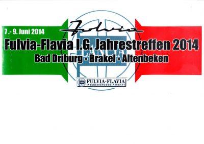 Rallyeschild für die Teilnehmer des Jahrestrefffen 2014